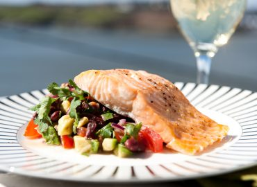 Healthy Eating of Salmon with Salsa