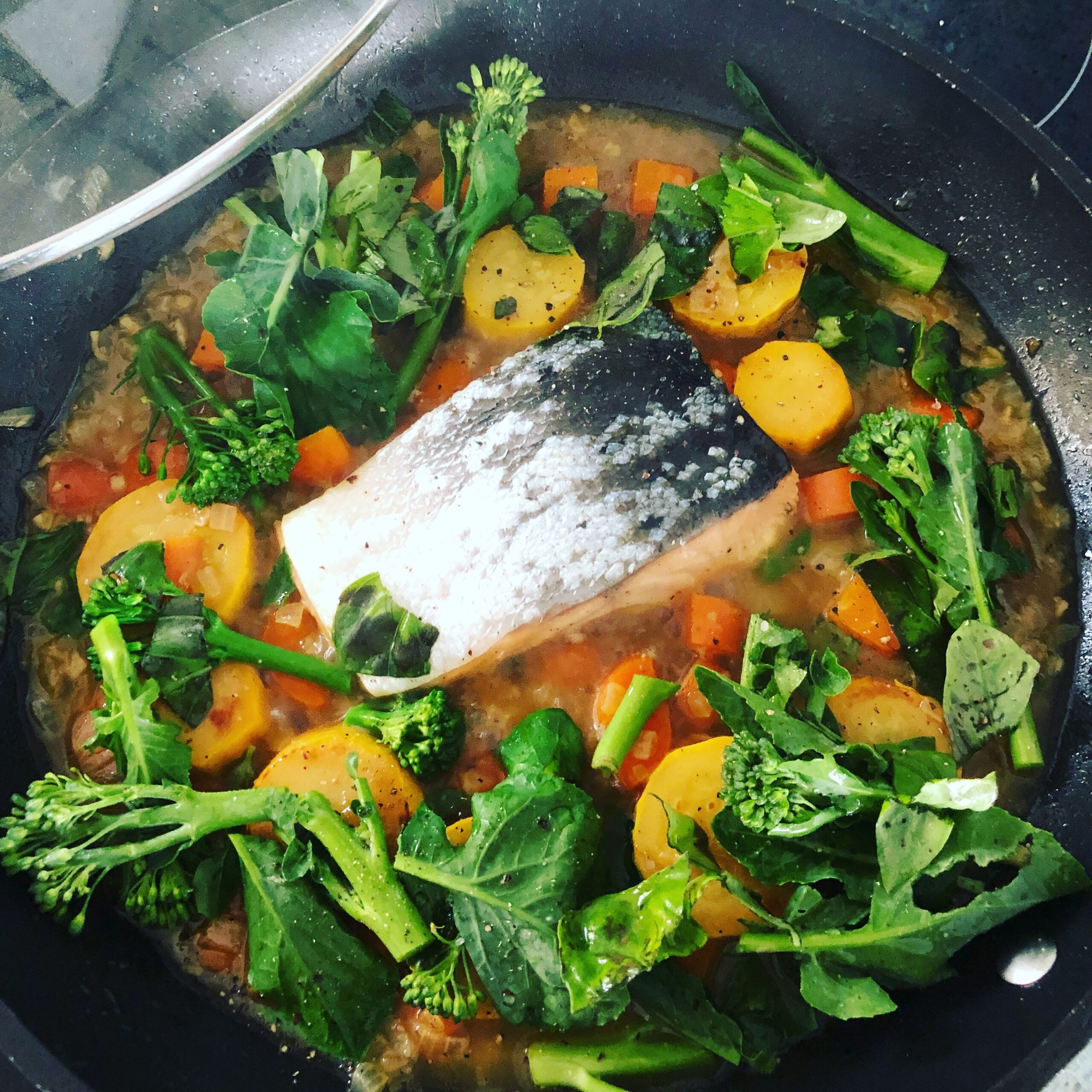 Salmon and Vegetable One Pot Wonder