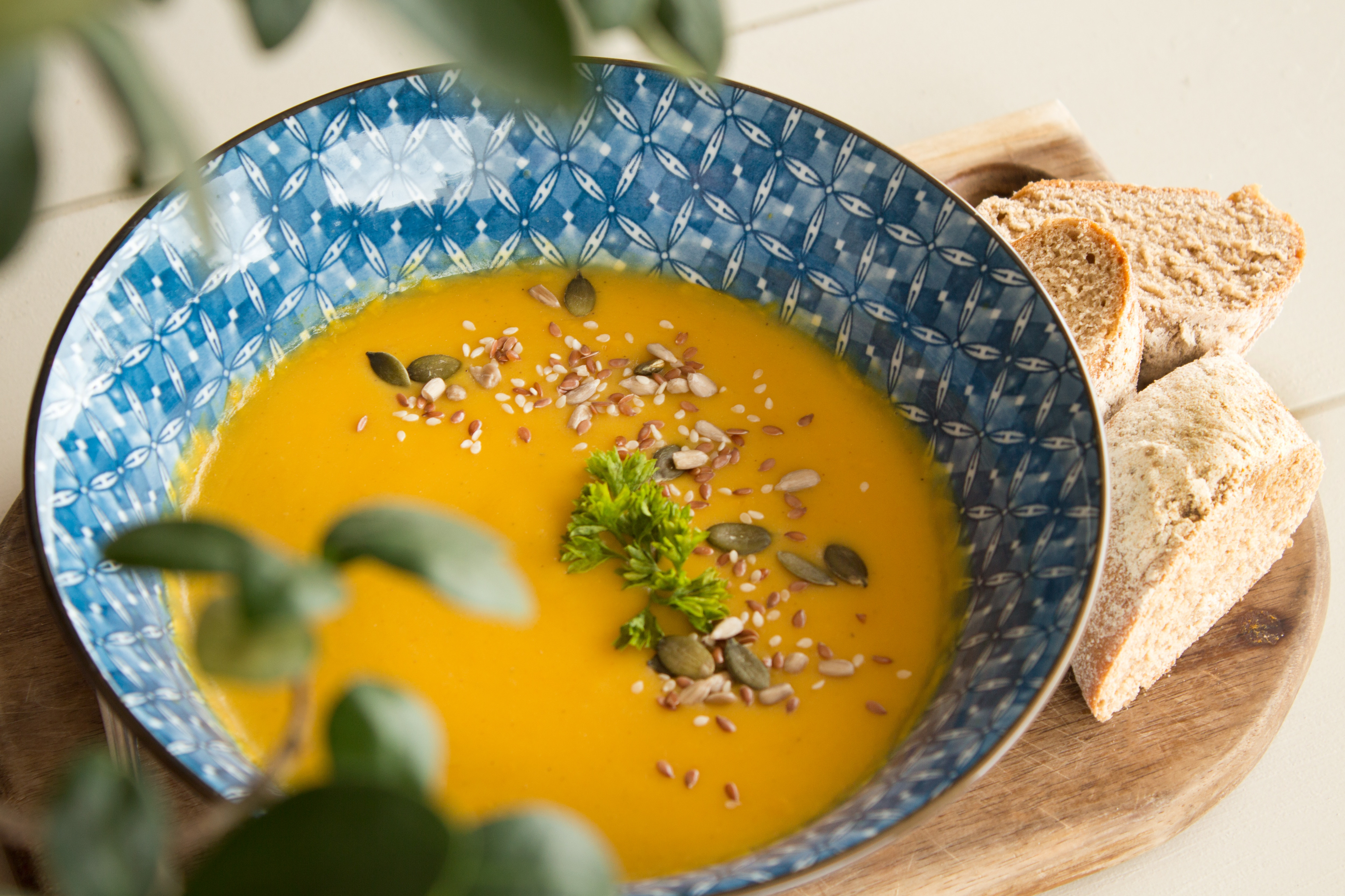 Warming Carrot and Ginger soup