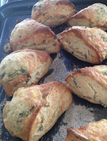 Courgette and cheddar scones