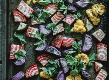 Roast cauliflower and beetroot salad