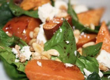 Sweet potato and feta salad