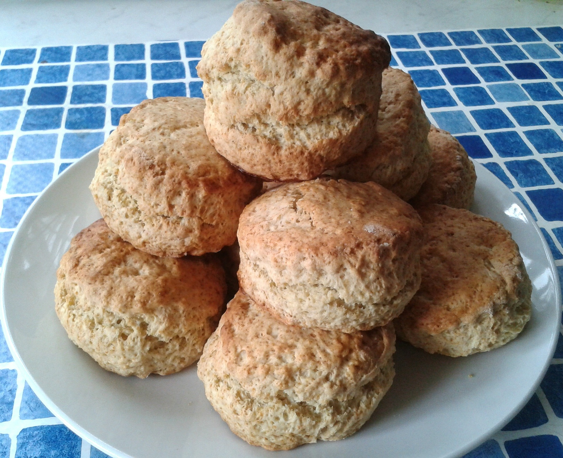 Homemade whole wheat brown scones